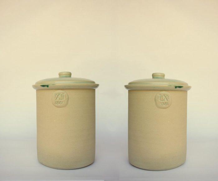 1L Fermentation Crock Pot Plain Finish